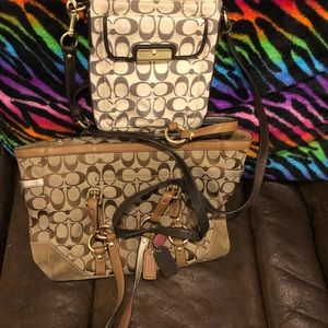 Authentic Coach purse and crossbody!!